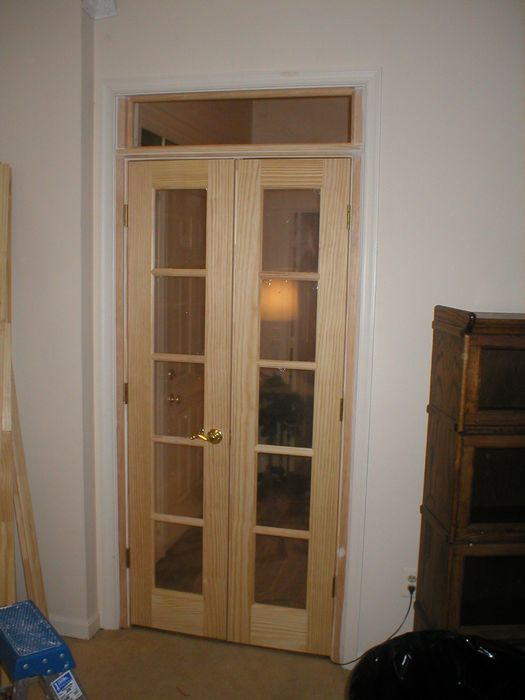 Amazing Double Swing Interior French Doors With Transom